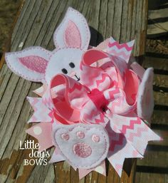 Check out this item in my Etsy shop https://www.etsy.com/listing/227490172/oversized-easter-bunny-boutique-chevron