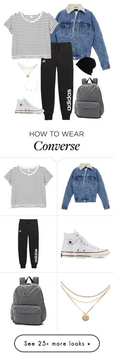 """singles1"" by kierstin518 on Polyvore featuring adidas, Monki, Converse, Vans and SCHA"