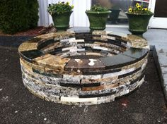 Recycyled Granite Firepit Kit  Made in by KnoxStoneInteriors, $395.00