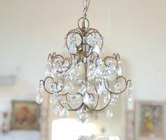 easy mini bathroom chandelier. Small chandelier idea for closet Nice Mini Chandelier For Bathroom  7 Crystal