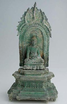 Khmer Tripartite Sculpture of the Buddha Origin: Cambodia Circa: 12 th Century AD to 13 th Century AD