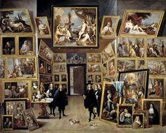 El archiduque Leopoldo Guillermo en su galería de pinturas en Bruselas (David Teniers II) - David Teniers (młodszy) – Wikipedia, wolna encyklopedia