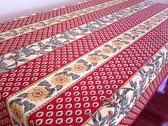 French provencal tablecloth with olives and sunflowers designs (afrenchtalblecloth)