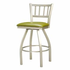 Have to have it. Regal Jailhouse 26 in. Swivel Metal Counter Stool with Upholstered Seat $224.99