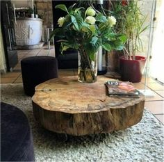 Coffee table design over is a really praiseworthy and contemporary layouts. Hope you understand or motivation for your contemporary coffee table. Unique Coffee Table, Cool Coffee Tables, Decorating Coffee Tables, Coffee Table Design, Tree Trunk Coffee Table, Tree Stump Coffee Table, Wood Slice Coffee Table, Design Table, Table Designs