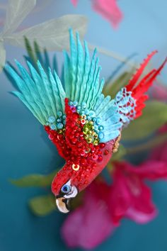 Julia Gorina creates some of the most beautiful bird brooches. She combines vintage fabrics, laces, beads and embroidery to create some truly whimsical and beautiful pieces.  Do check out Julia's website at http://www.fly-fenix.ru/  Do check out Julia Gorina on Facebook.