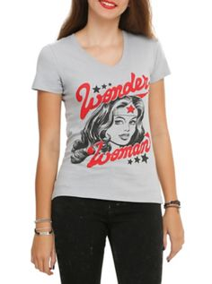 DC Comics Wonder Woman Girls V-Neck T-Shirt