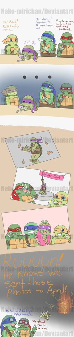 Donnie loves his good lovely brothers by Neko-mirichan on deviantART