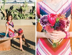 MID-CENTURY MODERN PALM SPRINGS WEDDING INSPIRATION  |  Photography by Jessica Claire  | Hotel Lautner |  Floral design by Oak & the Owl  | Kacee Geoffroy hair + makeup |  Bridesmaid dress by Trina Turk - resort 2014