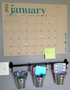 I love this simple tear off wall calendar for a family schedule station!  This makes much more sense to me than those dry erase calendars everyone is doing that you have to constantly update!  Need!