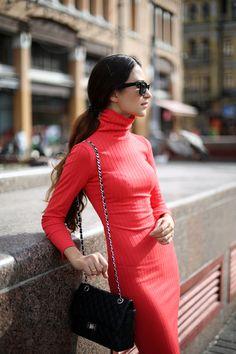 "bestfashionbloggers: ""Tina Sizonova / Turtleneck Dress http://ift.tt/1gI5Yle // see more at bestfashionbloggers.com "" www.fashionclue.net | Fashion Tumblr, Street Wear & Outfits"