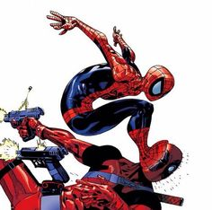 Spider-Man vs deadpool. This is actually too adorable for words.