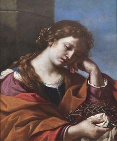 Maria Maddalena che medita sulla Corona di spine 65 x 55 cm 1632(1632)