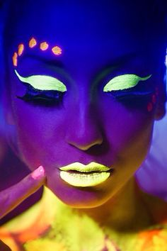 Girl with Neon yellow & orange makeup