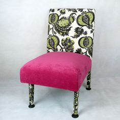Chair upholstered in vintage Sanderson fabric on Etsy, £260.00