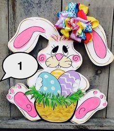 Peter rabbit door hanger easter bunny door by Angelascreativecraft Bunny Face, Diy Ostern, Wooden Door Hangers, Peter Rabbit, Easter Wreaths, Easter Crafts, Easter Decor, Holiday Crafts, Holiday Ideas