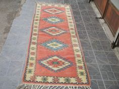 Free Shipping Rug runner Oushak Rug Vintage Hand Woven Turkish