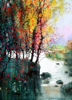 Z.I. Feng...Gorgeous watercolor