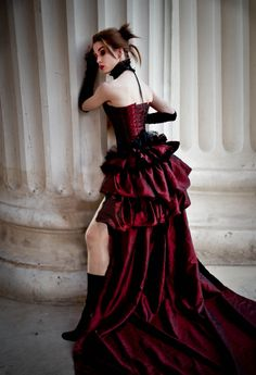 LONESOME DOVE Steampunk Saloon  Burlesque Gothic  Opera Victorian Bustle Skirt. $110.00, via Etsy.