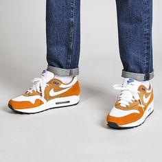 "Nike Air Max 1 Premium Retro Atmos ""Curry"" Shoes Air Max 1s, Nike Air Max, Designer Sneakers Mens, Air Max Sneakers, Sneakers Nike, Curry Shoes, Latest Sneakers, Sneaker Release, Nike Shoes"