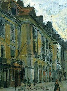 Les arcades de la poissonerie, quai Duguesne, Dieppe, France Walter Richard Sickert - 1900