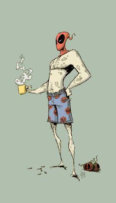 deadpool coffee by NoahWhyler
