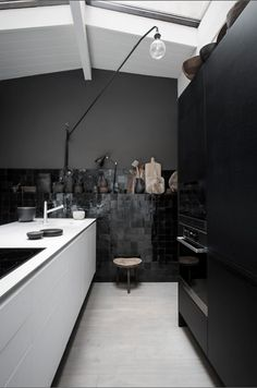 Dramatic French Home Interior In Dark Shades2