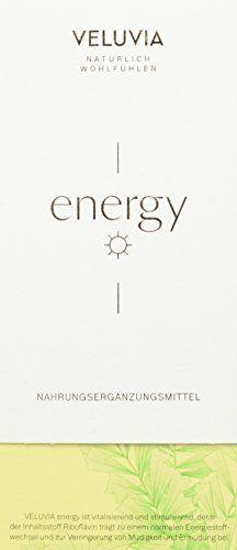 VELUVIA energy |zur Leistungssteigerung|Gegen Müdigkeit & Erschöpfung| Riboflavin, Vitamin B2, Vitamin B6, Vitamin B5, Eisen|Superfood| vegan|1 Monatspackung 30x2 Kapseln| Nahrungsergänzungsmittel Vitamin B2, Superfood, Vegan, Feelings, Ice, Household, Vegans