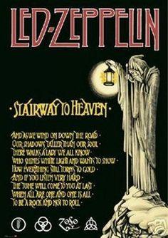 LED Zeppelin Stairway to Heaven New 24x36 Poster Print Print Image Photo UW0 | eBay