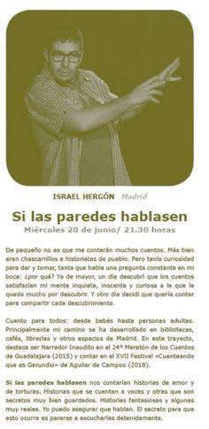 Israel Hergón, Madrid. miércoles 20 de junio de 2018. Israel, Madrid, Movies, Movie Posters, To Tell, June, Short Stories, Historia, Films