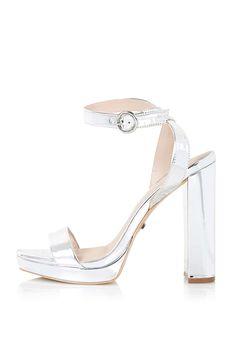 LUXURY Slim Platform Sandals - Topshop $90