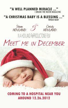 December 2012 Baby Poster