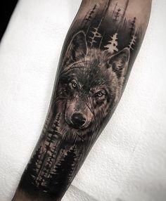 Tattoo Bilder - T . pics pics art pics awesome pics beautiful pics design pics for men pics ideas pics ink pics photography pics tatoo Wolf Tattoos, Wolf Tattoo Forearm, Calf Tattoo Men, Forarm Tattoos, Forearm Sleeve Tattoos, Animal Tattoos, Leg Tattoos, Tattoos For Guys, Wolf Face Tattoo