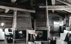 Val d Isere  Black white and barnwood all over