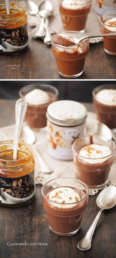 Crema de chocolate y mascarpone con mermelada de café