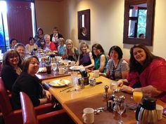 A whole passel of wonderful Montlake authors at breakfast in San Antonio, TX, at the RWA conference in 2014.