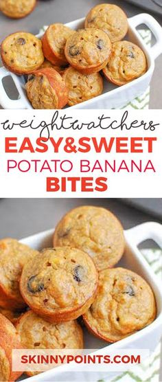EASY AND SWEET POTATO BANANA BITES With Only 1 Weight Watchers Smart Points