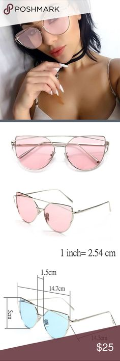NEW silver and pink aviator sunglasses ❗️price firm unless bundled❗️✈️ ships same or next day✈️ ASOS Accessories Sunglasses