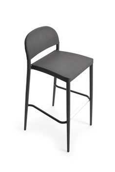 Aluminum stools with perforated texture seat and backrest, available in various colors. Ideal for bars or kitchens with a peninsula or island. Island Stools, Ottomans, Timeless Design, Contemporary Furniture, Dining Chairs, Kitchens, Texture, Colors, Outdoor Decor