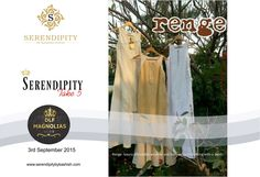 RENGE-A brand created for the love of style and fashion for the women who want to stand apart!! RENGE is a classic lable born out of love for fashion and style nearly 2 decades ago. Their clothes are known for their strong silhouettes with sharp detailing.They strike a perfect balance between modern and fusion. Designed by Charu Chhatwal only at #Serendipity #Take5 ...@ DLF Magnolias Club on 3rd September 2015