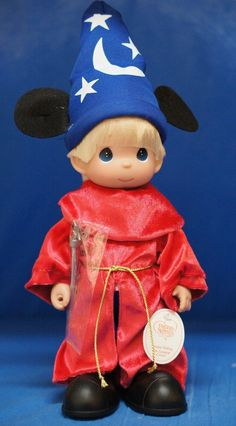 "Mickey Sorcerer Apprentice Fantasia 12"" Doll Disney Precious Moments 4962 Signed #PreciousMoments"
