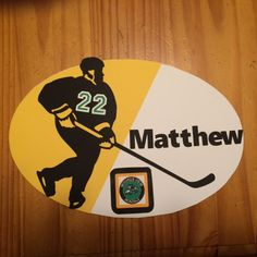 Hotel Door sign for out of town Hockey Tournament