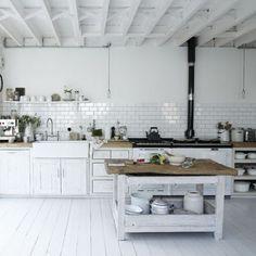 beach house interior white