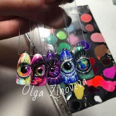 Rainbow Nails, Neon Nails, Love Nails, Pretty Nails, Comic Nail Art, Punk Nails, 3d Nail Designs, Colorful Nail Art, Nail Art Images