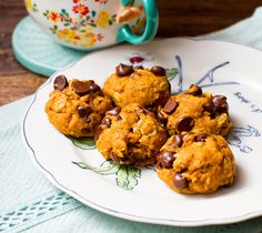 Nutty Pumpkin Chip Cookies made with spelt flour, rolled oats, and carob chips -- a sweet splurge for after the Fast Metabolism Diet (sub xylitol for the sugar). This is a vegan recipe, but you can use a whole egg for a non-vegan version.