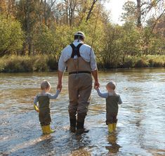 Fly fishing with daddy!