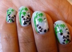 I live these panda nails! So cute