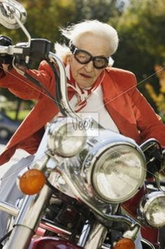 Granny on her hawg.