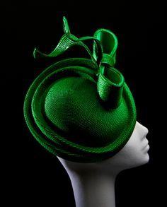Madeline by Carol Kennelly Millinery Hats, Fascinator Hats, Green Fascinator, Fascinators, Emerald Green, Emerald City, Love Hat, Cool Hats, Headgear