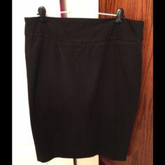 Grace Elements Black Skirt Grace Elements black skirt. Size 12. Zips up back. Pre-owned but like new. Grace Elements Skirts Pencil